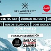 Fiesta Presentación GRX WiNTER FEST